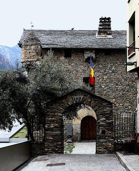 Andorra, Andorra La Vella, Stone Building, Architecture