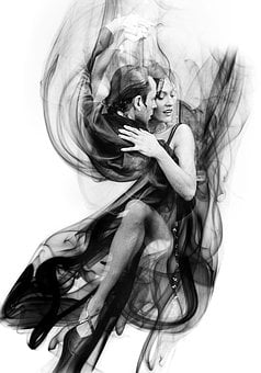 Smoke, Pair, Dancing Couple, Dance, Tango, Dance Style