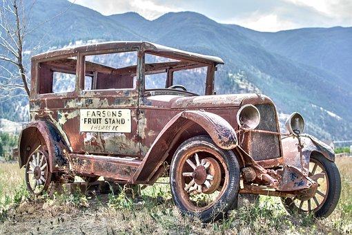 Vintage, Truck, Old, Car, Rust, Rusty, Wheels, Tire