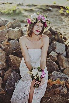 People, Woman, Beauty, Wedding, Marriage, Dress, White