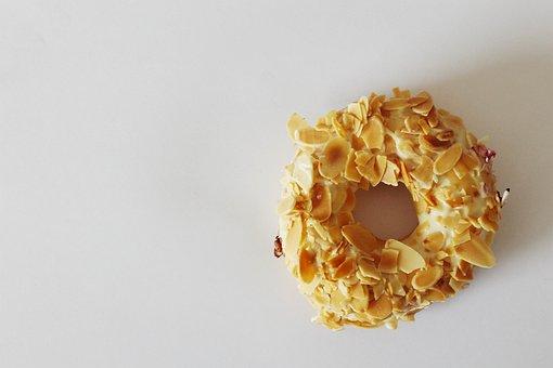 Donut, Sweet, Pastry, Bread, Almonds, Peanut, J, Co