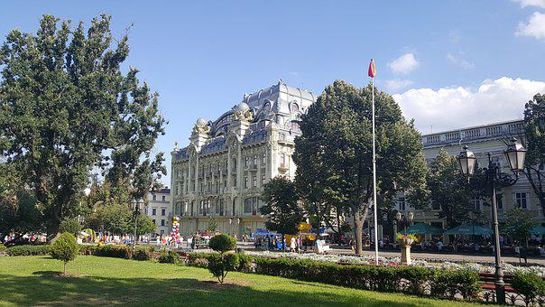 Odessa, Deribasovskaya, Vacation, Architecture, Ukraine