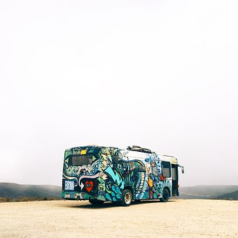 Bus, Vehicle, Tranportation, Travel, Adventure, Art