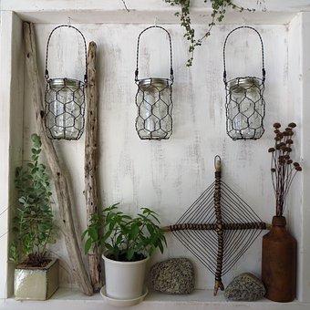 Wire, Folk Art, Handmade, Baskets, Mason Jars