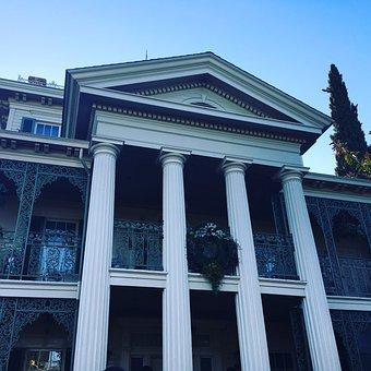 Disneyland, Halloween, Haunted Mansion, Christmas