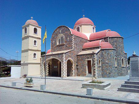 Church, Greece, Chalk