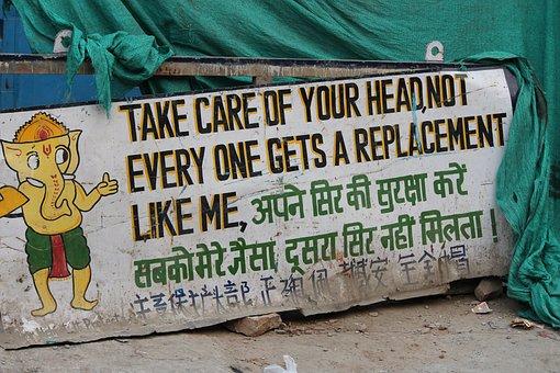 Fun, Sign Boards, Delhi, Design, Cartoon, Indian, Hindu