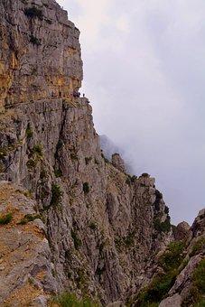 Trail, Ravine, Rock, Danger, Excursion, Mountain