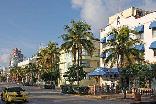 Miami, Florida, Usa, Building, Sunny, Architecture