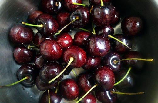 Cherries, Cherry, Red Cherry, Sweet, Fresh, Red, Food