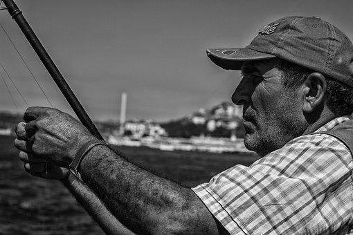 Fishing Rod, Fish, Marine, Hunt, Solar, Fishing
