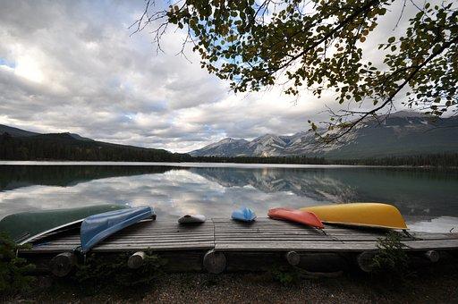 Jasper, Canada, Lake, Reflection, Scenery, Mountain