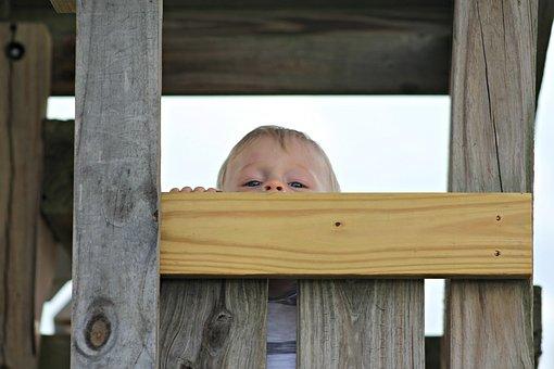 Little Boy, Park, Peek A Boo, Childhood, Happy, Summer