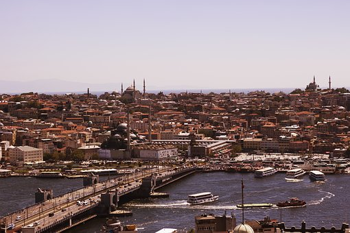 Estuary, Galata, Istanbul, Landscape, City, Peace