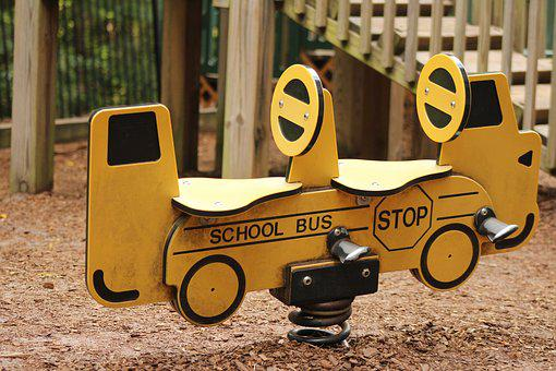School, School Bus, Playground, Bus, Transportation
