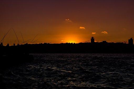 Sunset, Istanbul, Landscape, Marine, Nature, Sky