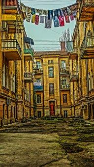 Odessa, Patio, Linen, Weighs, Asphalt