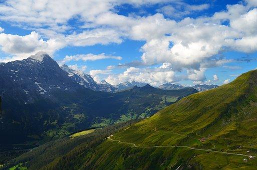Alpine, Switzerland, Panorama, Eiger, Virgin, First