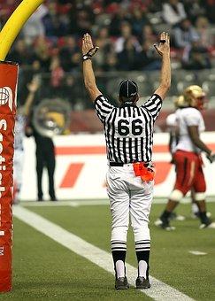Football, American Football, Referee, Touchdown, Signal