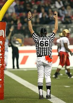 Football, American Football, Referee, Touchdown, Signal