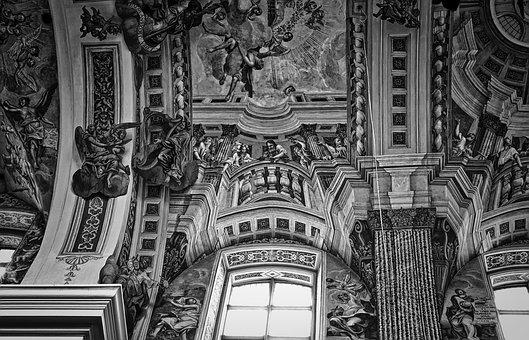 Church, Ceiling, Arch, Vault, Architecture, Interior