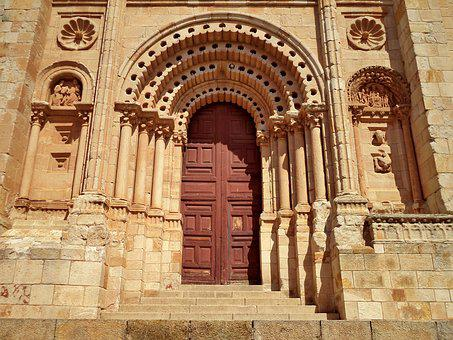 Zamora, Cathedral, Door, Church, Portal, Architecture