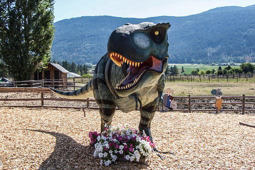 T-rex, Dinosaur, British Columbia, Flower, Landscape