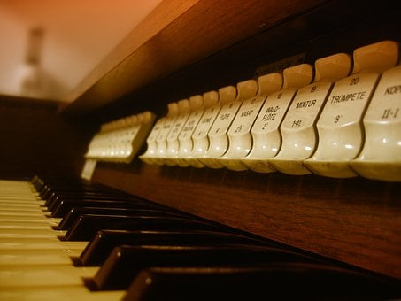 Organ, Instrument, Church, Button, Keyboard, Settings