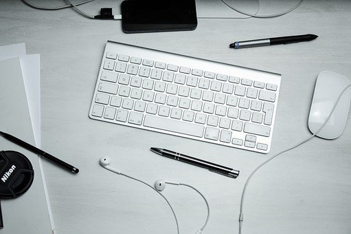 Keyboard, Mouse, Pens, Workspace, Computer, Technology