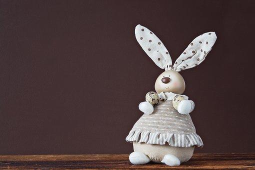 Deco-hase, Easter Bunny, Quail Eggs, Deco, Decoration