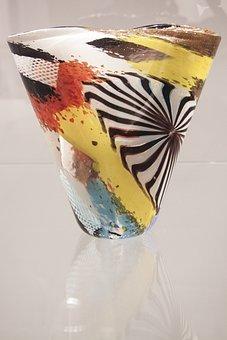 Vase, Glass, Colorful, Dino Martens, Design, Classic