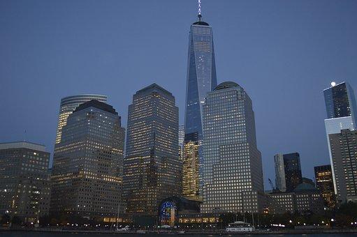 New York, One World Trade Center, 1 Wtc, Evening