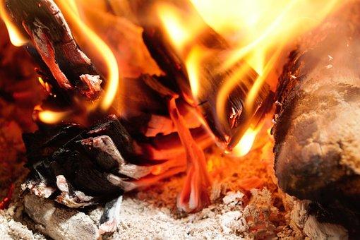 Fire, St John, Firewood, Fireplace