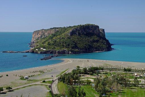 Praia A Mare, Calabria, Italy, Landscape, Sea, Island