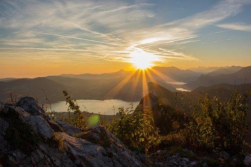 Austria, Mountains, Salzburg, Nature, Sunrise, Schober