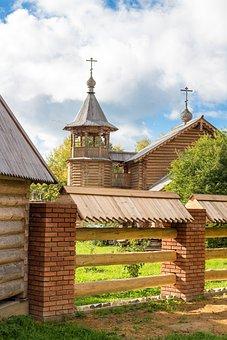 Church, Wood, Architecture, Orthodox, Christianity, Rus