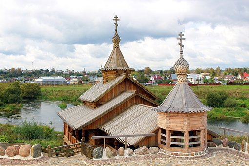 Russia, Borovsk, Old Town, Orthodoxy, Christianity