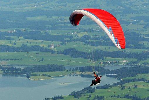 Paraglider, Paragliding, Fly, Freedom, Tegelberg