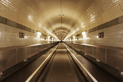 Tunnel, Transport, Underground, Perspective, Transit