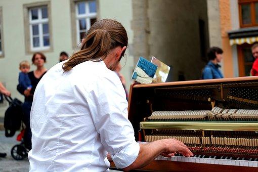 Piano Player, Musician, Focused, Piano Keys, Piano