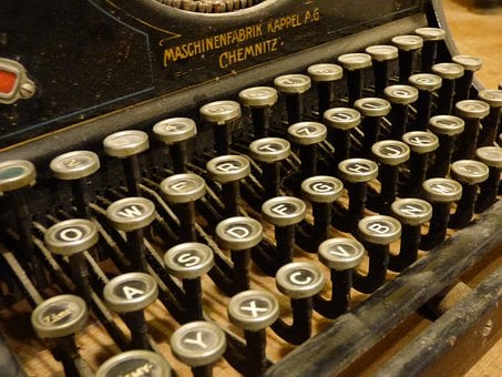 Machine, Print, Keys, Font, Typewriter, Paper, Letters