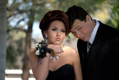 Teenagers, Prom, Formal, Young, Fashion, Outdoors