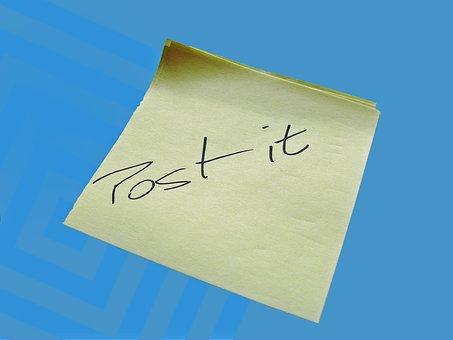 Postit, Post It, List, Urgent, Remember, Memory, Note