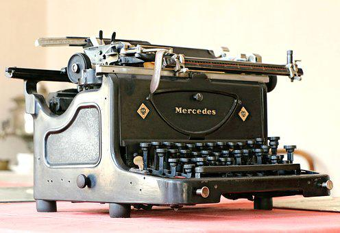 Mercedes, Typewriter, Antiques, Retro, Printer, Museum