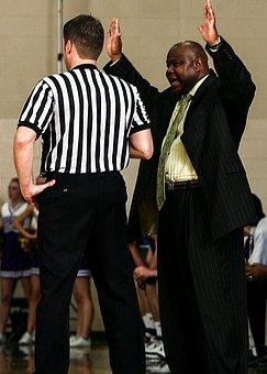 Basketball, Coach, Referee, Stripes, Striped