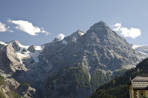 Mountains, Ortler, Italy, The Alps, Stelvio