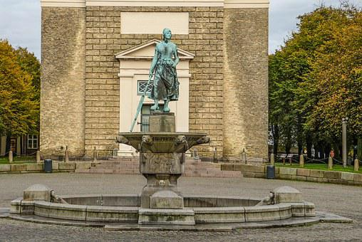Tine-fountain, Tine, Landmark, Husum, Nordfriesland