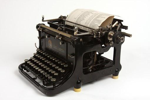 Black, Typewriter, Old, Retro, Vintage, Antique, Type