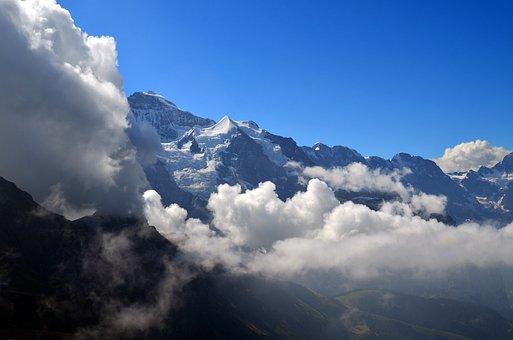 Virgin, Silberhorn, Ebnefluh, Mountains, Glacier