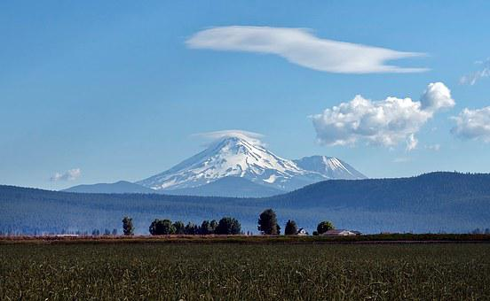 Mount Shasta, California, Mountains, Volcano, Landscape